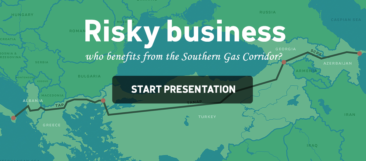 'Risky business - who benefits from the Southern Gas Corridor?' start the presentation