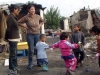 Children play at wash time
