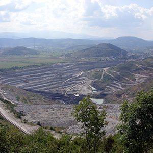 Open pit mining at Pljevlja, Montenegro