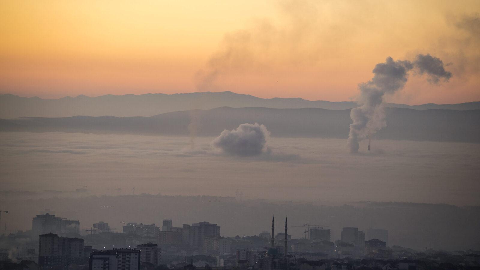 Coal power plants near Prishtina in Kosovo_Credit Arben Llapashtica