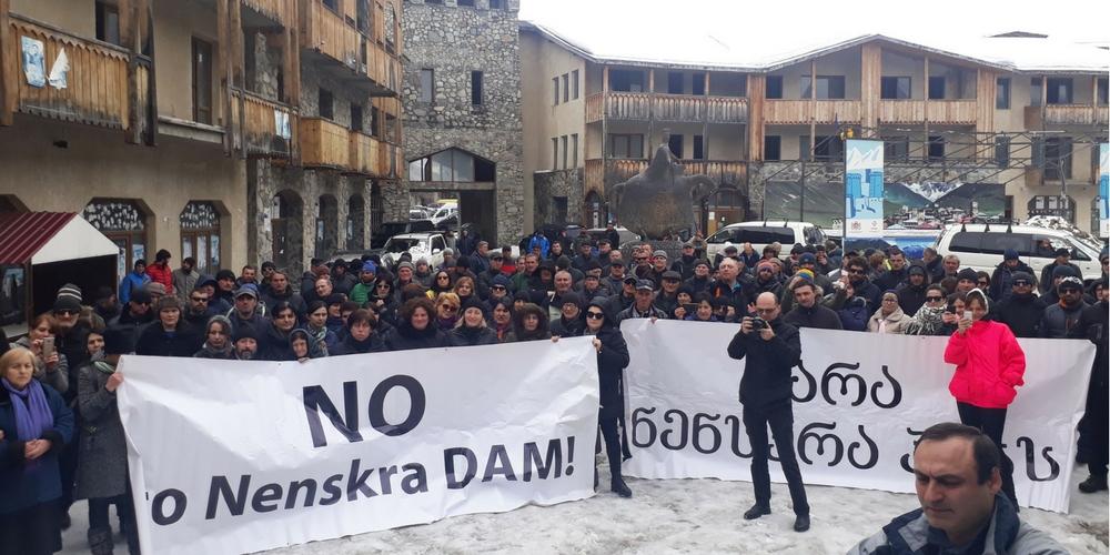 Nenskra dam in Svaneti - protests against hydro in Georgia