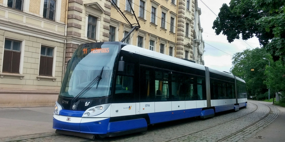 Riga's controversial tram line to Skanste