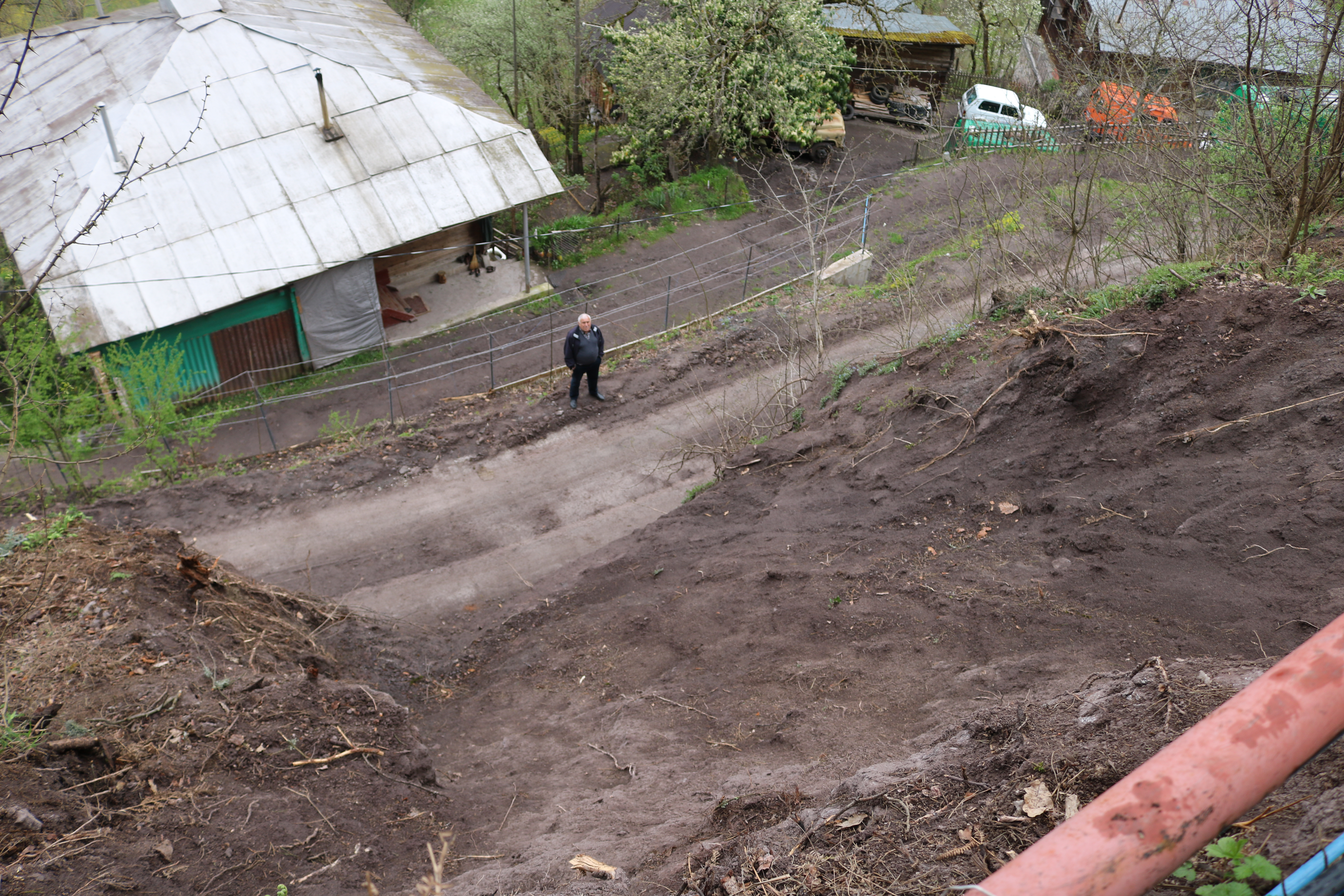 landslide near the tunnel of Georgia's controversial Shuakhevi hydropower plant